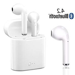 Bluetooth Headset,LIKEmaoxiang Wireless Earbuds Microphone E