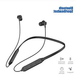 Bluetooth Neckband Headphone Magnetic Wireless Earbuds Sport