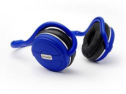 Kinivo BTH240- BLUE Bluetooth Stereo Headphone Supports Wire