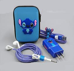 Cartoon USB Cable Earphone Protector Set With Earphone Box C