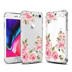 Airror Case for iPhone 8 iPhone 7 Case with Flowers,  Slim S
