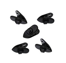 Clips for Earphone Wire, ALXCD 360 Degree Rotate Headphone M