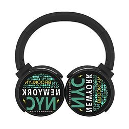 Colorful New-York Bluetooth Headphones Over Ear Wireless Hea