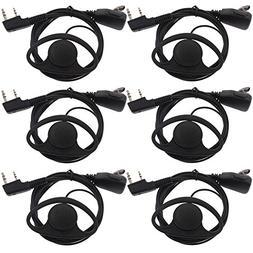 Tenq D Shape Earpiece Headset PTT for Kenwood Puxing Wouxun