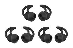 Zotech 3 Pair Double Flange Silicone Earbuds EarTips Eargel