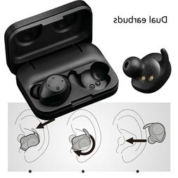 dual bluetooth earbuds headsets earphones for apple