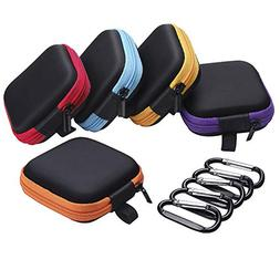 Sunmns 5 Pieces in Ear Bud Earphone Headset Headphone Case M