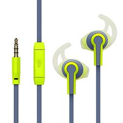 Sport Ear phones In-ear Earbuds with Stereo Mic Running Head