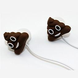 QearFun In Ear Wired 3.5 mm 3D Cute Cartoon Poop Joke Earpho