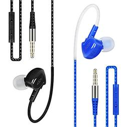 In Ear Workout Earbuds, Costyle 2 Pack Model GH In-ear Sport