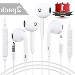 Earbuds - 2PACK Perfect Sound EarPods with Remote and Mic -