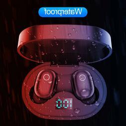 F2 BT5.0 In-Ear Headset TWS Wireless LED Earphone Earbuds MI