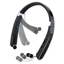 Mee'sport Foldable Bluetooth headsets,Neckband Bluetooth Hea