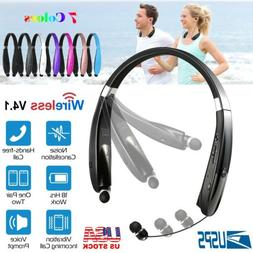 Foldable Retractable Bluetooth Headset Headphone Wireless Sp