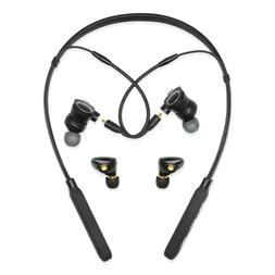 GIVEMIFIVE Bluetooth Wireless Headphones V4.2 HD Neckband Ki