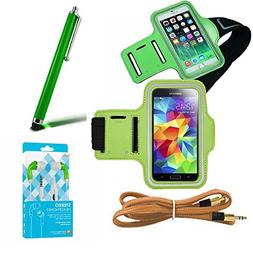 Green Armband Exercise Workout Case with Keyholder for Joggi