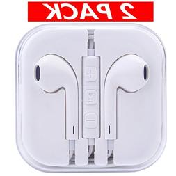 2 Pack Headphones, Romoca iPhone Earbuds with mic Microphone