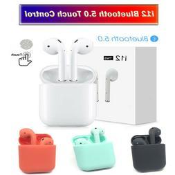 i12 TWS Bluetooth 5.0 Earphone Wireless Smart Touch Control