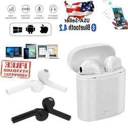 i7s TWS Wireless Earbuds Bluetooth V4.2 w/Charge Case, iPhon