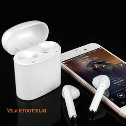 i7S Wireless Bluetooth Double Earbuds Built in Microphone fo
