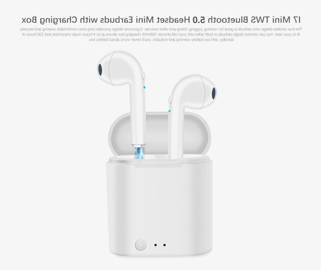 1Bluetooth Earphones For Android Samsung Wireless Earbuds Airpods