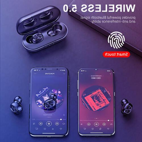 2019 Bluetooth 5.0 Headset TWS Wireless Earphones Earbuds Stereo