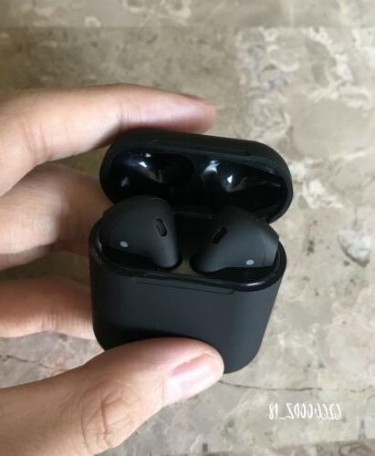 2019 matte black airpods style headphones wireless