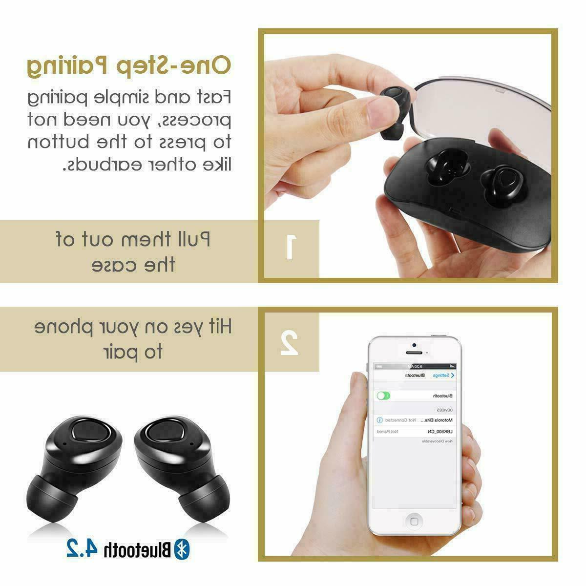Wireless Earbuds Headphones Sweatproof & Charging