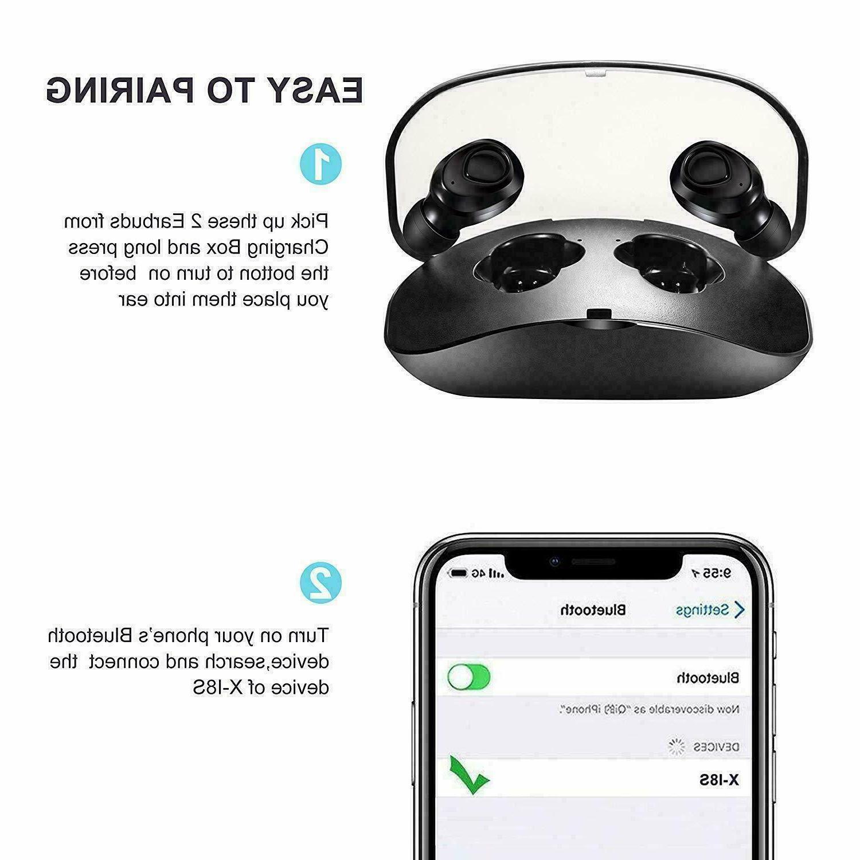 Wireless Earbuds Headphones & Charging Box