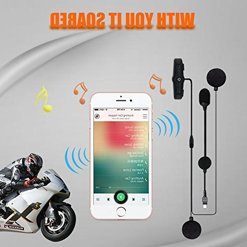 Helmet Headset, Motorcycle Bluetooth Intercom, Systems for Motor and with Cable