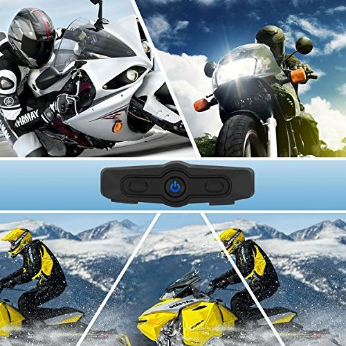 SCS Helmet Headset, Motorcycle Bluetooth Motorcycle Intercom, Helmet Communication Systems for and Skiing with Cable