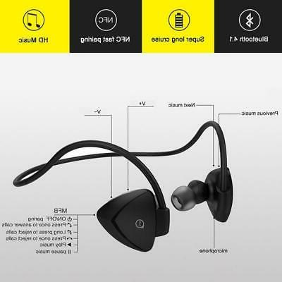 AWEI Bluetooth Earphones Wireless With Mic Stereo