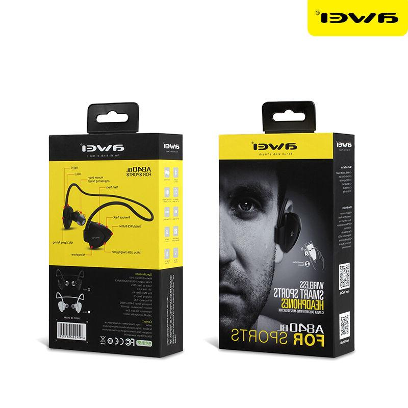 AWEI Stereo Headset Bluetooth Wireless Earbuds With