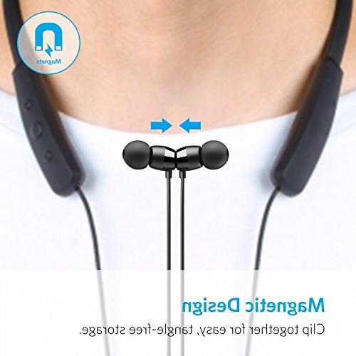 Anker Headset, Water Resistant Sport Earbuds 6.0 Cancelling Built-in
