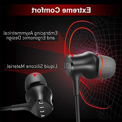 Bluetooth Upgraded Armature Sport Bass Stereo Mic, Ultra Headphones 10 Play Time Noise Cancelling