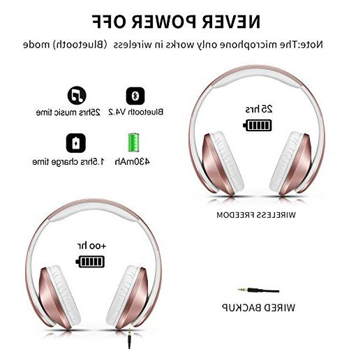 Bluetooth Headphones Mkay Wireless Stereo Headset with Bass, & Perfect Cell and Travelling