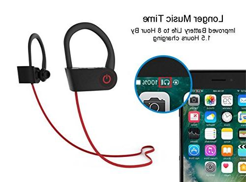 Bluetooth Headphones,Wireless U-8 & Pairing IPX6 In-Ear with Heavy Headsets