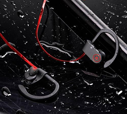 Bluetooth Headphones,Wireless Rosaxton U-8 Fast Pairing IPX6 Sport In-Ear with Heavy Headsets Gym