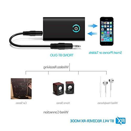 Bluetooth 3.5mm Audio Adapter aptX Latency&A2DP Music SystemBluetooth Transmitter/Receiver
