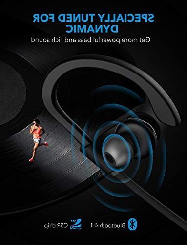 Mpow Waterproof Earbuds Sport, Richer Stereo in-Ear 7-9 Playback Headsets