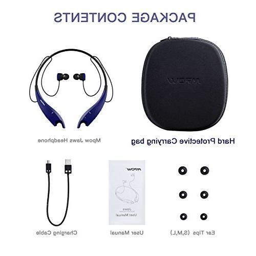Mpow Headphones W/Case, Neckband Headset V4.1, Vibrate Alert, Cell