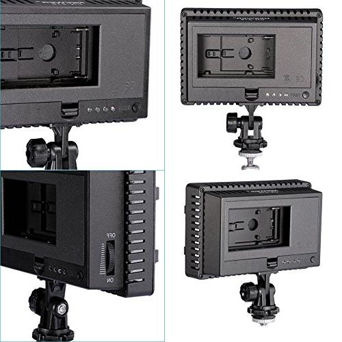 NEEWER Dimmable Ultra Power Panel Camera Camcorder Light for Canon, Nikon, Pentax, Panasonic, SONY, and Cameras