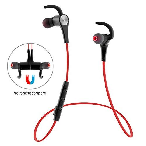 SoundPEATS Earphones In-Ear Fit Stereo Bluetooth for Q12 Red