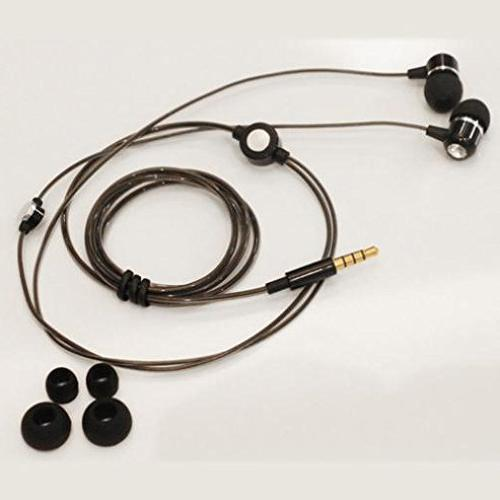 Superior Sound Handsfree Sleek Metal Headset Wired Black Samsung Galaxy NOOK 10.1, NOOK 8.0, S3