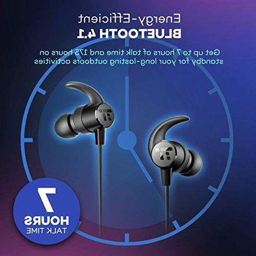 TaoTronics Headphones, Wireless in Ear Sports Magnetic Built