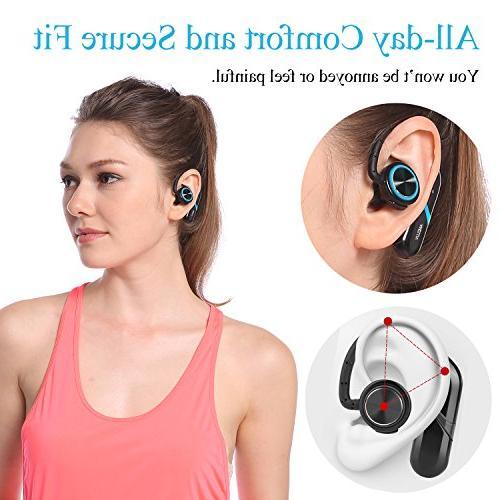 True Bluetooth Wireless Headphones, Best Sport Earphones Sweatproof Earbuds Gym 8 Hour Playback Hifi Cordless Headphones