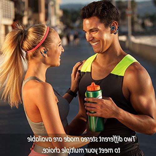 True Bluetooth Best Sweatproof Stereo Earbuds for Gym Exercising 8 Hour Headphones