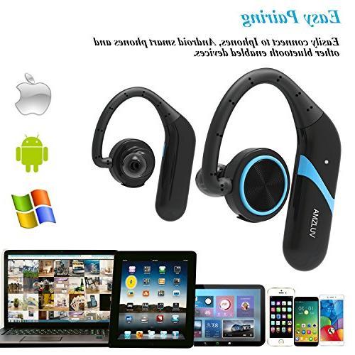True Earbuds, Bluetooth Wireless Headphones, Sport Earphones Waterproof Sweatproof for Gym Hour Headphones