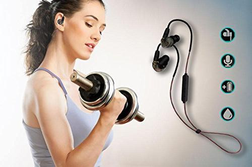 Wireless Headphones Bluetooth 4.1 Stereo Sound Fast for Gym MP3 80mAh