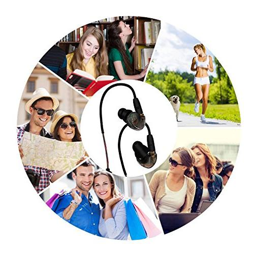Wireless Bluetooth Headphones - Datechip Bluetooth 4.1 Noise Stereo Sound and Fast Gym Driving and MP3 MP4 80mAh